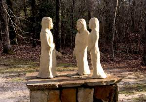 Road to Emmaus Sculpture