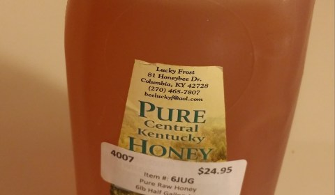 Step 6: Add a bit of pure, raw honey from Kentucky