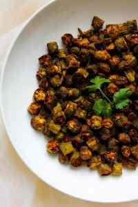 Air Fry Bhindi Fry / Okra Fry