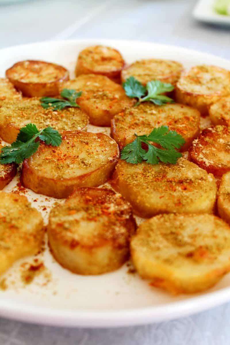 Aloo Tuk / Crispy Potatoes – Air Fryer, Stove Top