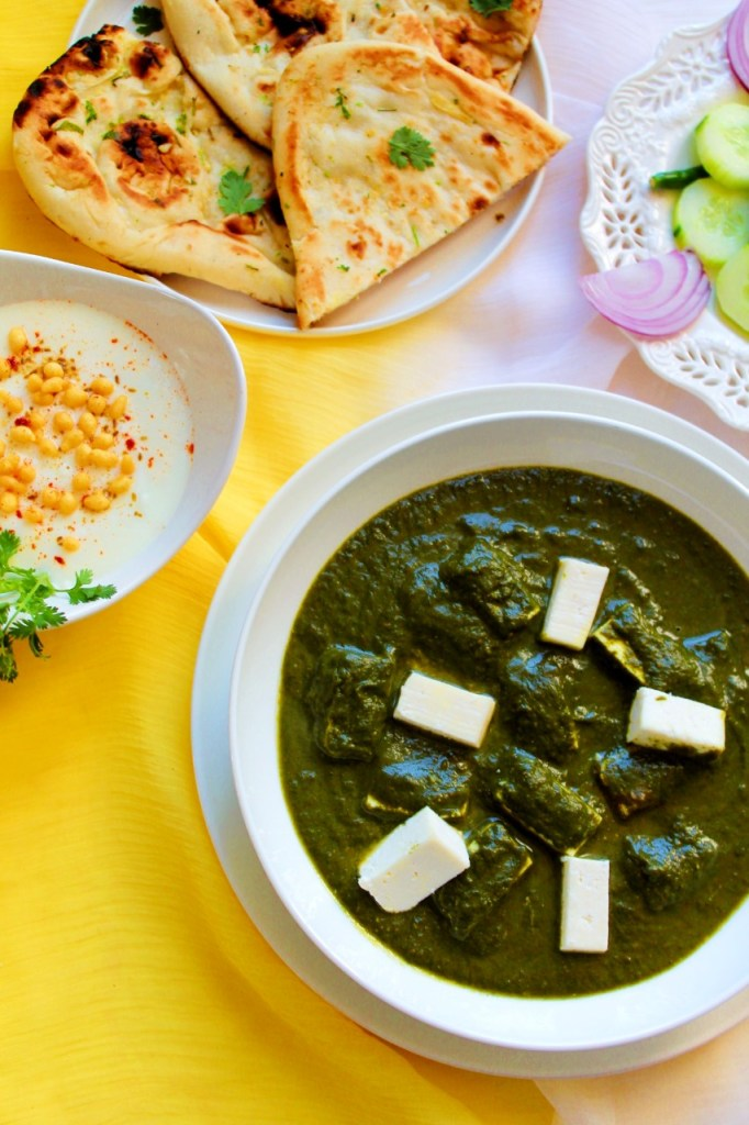 Instant Pot Palak Paneer / Spinach with cottage cheese