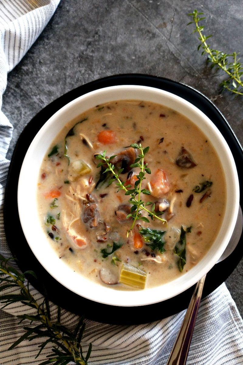 Instant Pot Chicken Wild Rice Soup