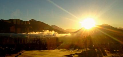 Sunrise from TPC Snoqualmie Ridge, 1/4/14