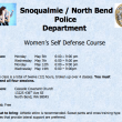 Police Offering Free Self-Defense Class to North Bend Women this May