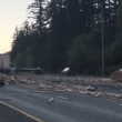 Collision causes truck to spill lumber, blocks eastbound I-90 near Snoqualmie