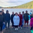 Watch | Residents in New Year's tradition: Rattlesnake Lake Polar Bear Plunge