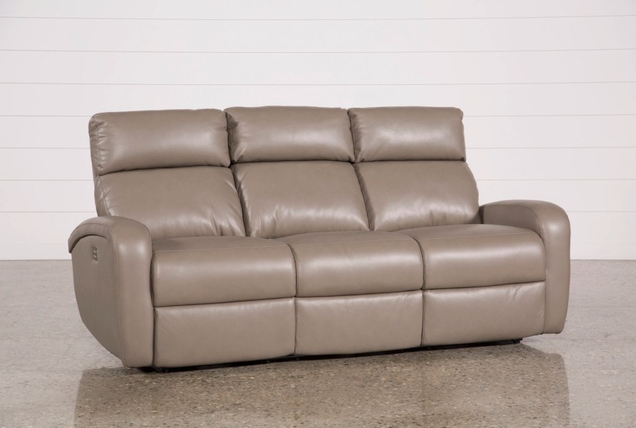 Darwin Taupe Power Reclining Sofa   Living Spaces Darwin Taupe Power Reclining Sofa  Qty  1  has been successfully added to  your Cart