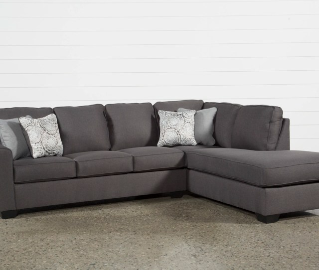 Mcdade Graphite 2 Piece Sectional With Right Arm Facing Chaise Living Spaces