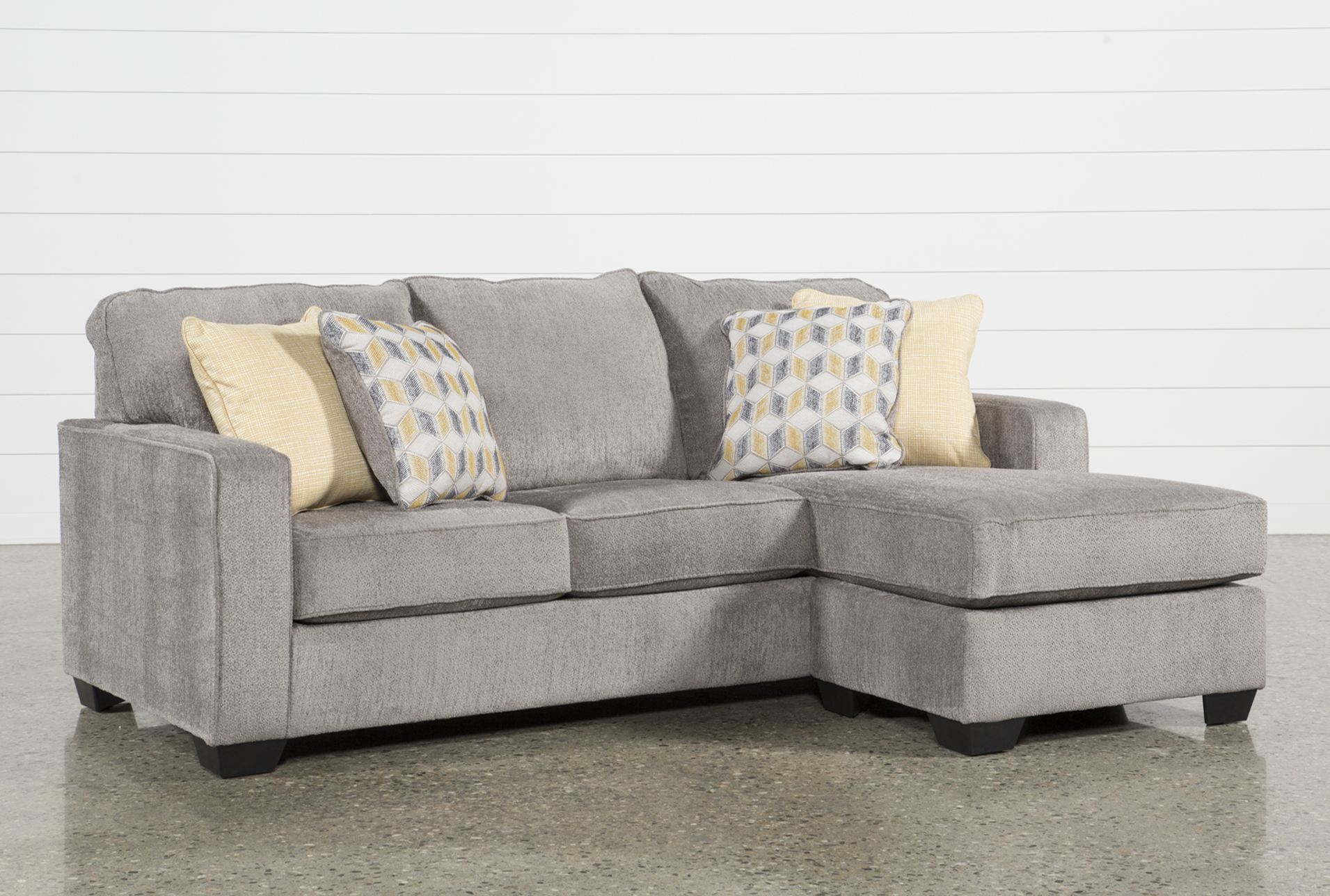 Chaise Sofas   Living Spaces Display product reviews for MCCULLA SOFA WITH REVERSIBLE CHAISE