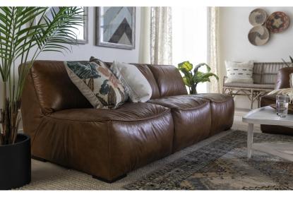 burton leather armless 91 sofa