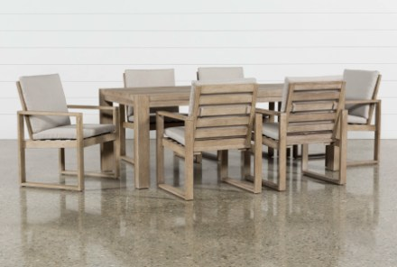 malaga outdoor 7 piece dining set with