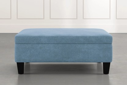 perch light blue large square storage ottoman