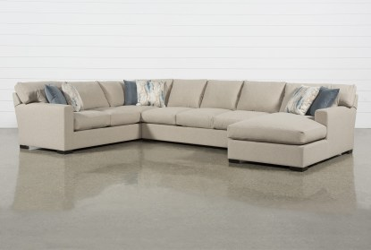 mercer down ii 3 piece 161 sectional with right arm facing chaise