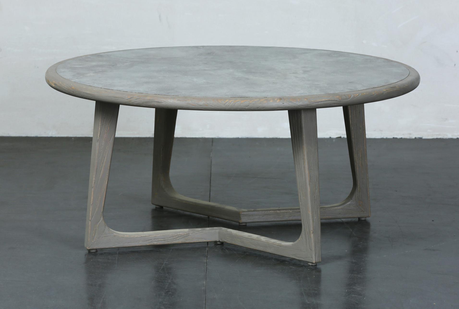 grey elm round coffee table