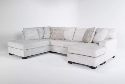 cambrie 124 2 piece dual chaise sectional with right arm facing sofa chaise