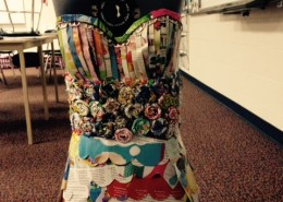 Dress made of magazines