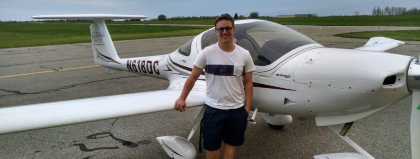 Student and plane