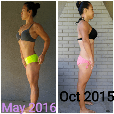 rach before and after side pose