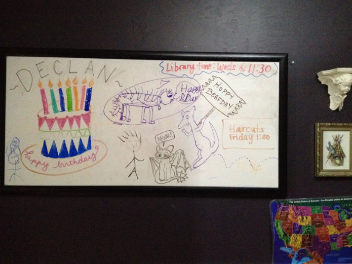 birthday white board
