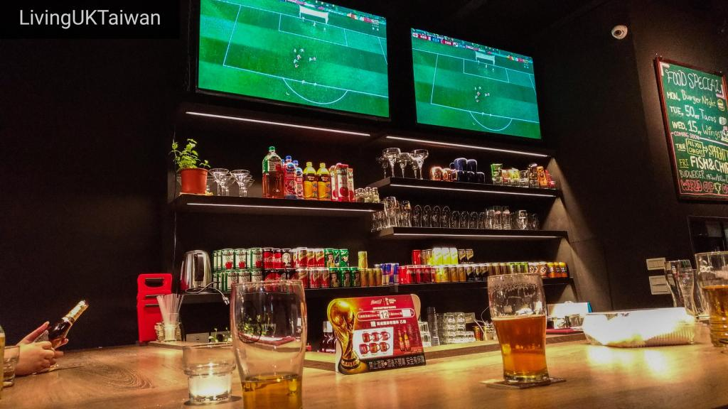Watching football in a bar, Taiwan