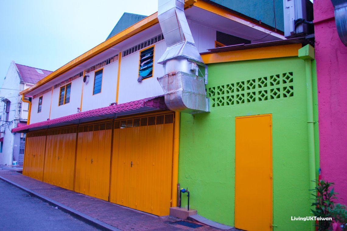 Yellow doors in Malcca, Malaysia