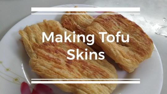 Making tofu skin   台東大池豆皮店