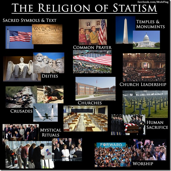 Statism is a religion