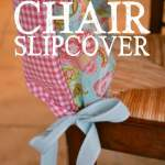 Diy Simple Chair Slipcover Tutorial Living Well Spending Less