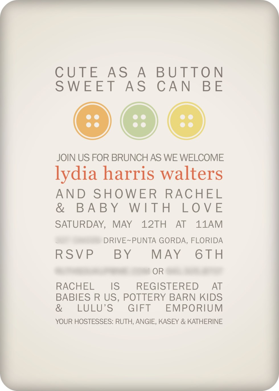 Cute as a Button Baby Shower | DIY & Budget Baby Shower ...
