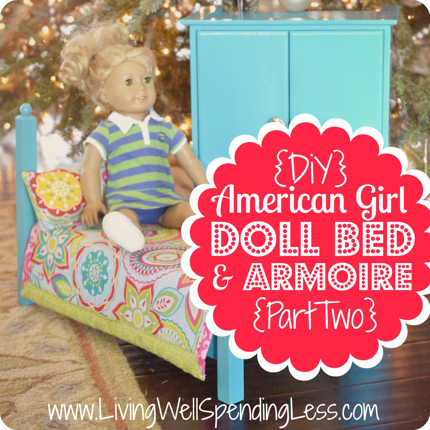 Diy American Girl Doll Bed Part 2