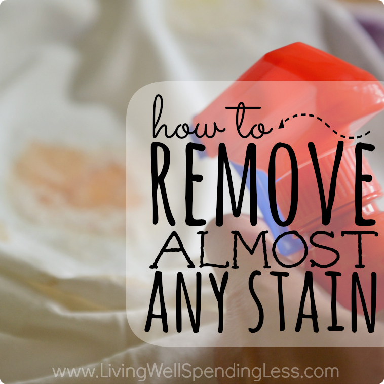 How To Remove Almost Any Stain Get Rid Of Every
