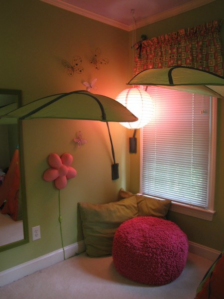 cozy reading nook with oriental lantern lighting
