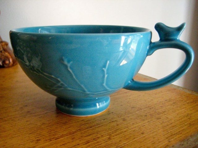 Bird theme aqua soup mug