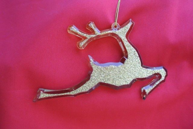 Modern deer ornament