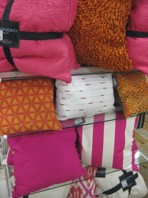 Pink and orange pillows -Home Goods