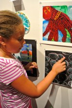 kid artist and her work
