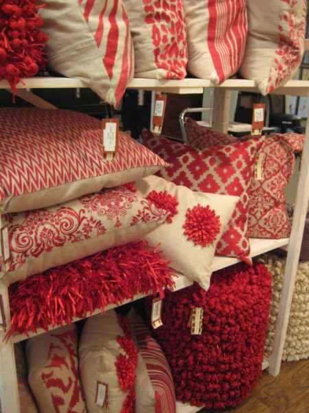 Red and White Pillows