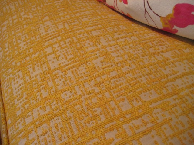 Sofa fabric yellow boucle
