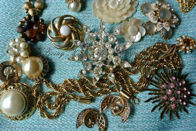 Costume Jewelry assortment livingwithcolordesigns.com