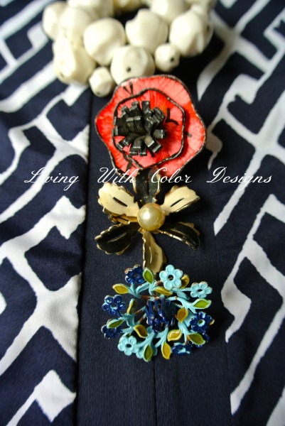 vintage flower pins livingwithcolordesigns.com