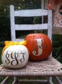 Pumpkin decals by Southern Style- Living With Color Designs
