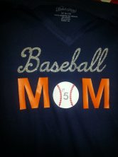 Baseball Mom Shirts by Southern Style- Living With Color Designs