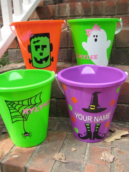 Halloween buckets by Southern Style- Living With Color Designs