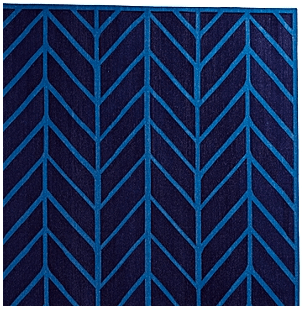 Feather Rug- Navy/Cobalt -Living With Color Designs
