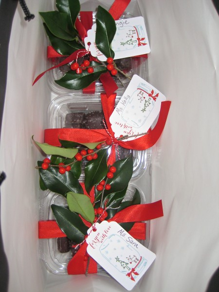Gift wrap with greenery and berries