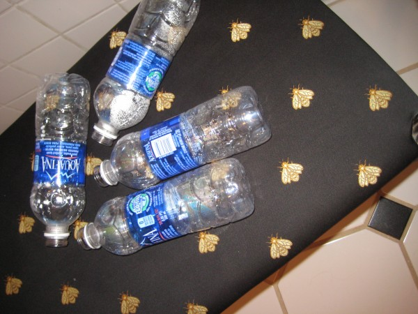 Organize your drawers with recycled items-water bottles- Living With Color Designs