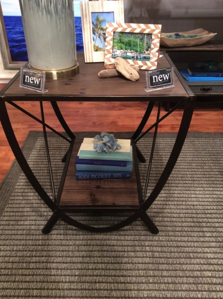 Wood and Iron Side Table - Living With Color Designs