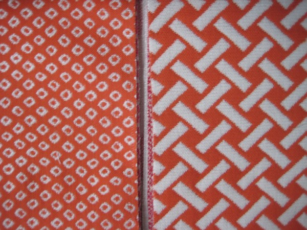 Orange Patterned Outdoor Fabrics - Living With color Designs