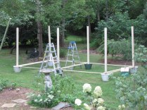 DIY: Hanging Outdoor String Lights- Living With Color Designs Blog - Spacing And Placement Of Posts