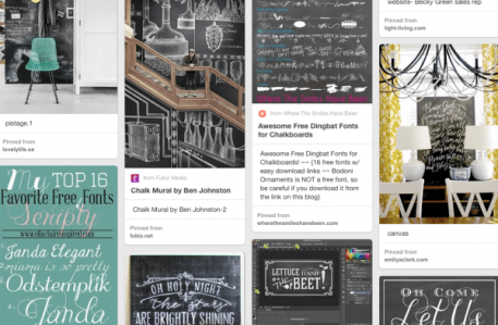 Topograhy pin board includes chalkboard inspiration- Living With Color Designs